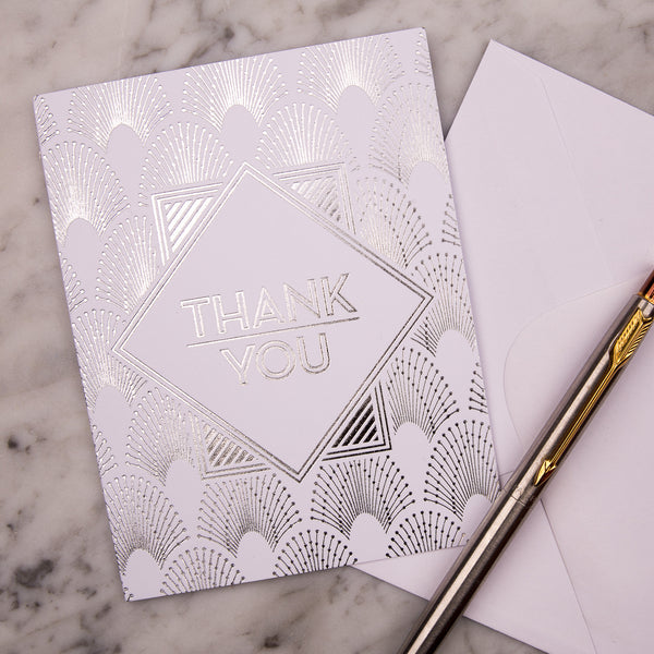 DECOdence Foil Thank You Cards, pack of 10
