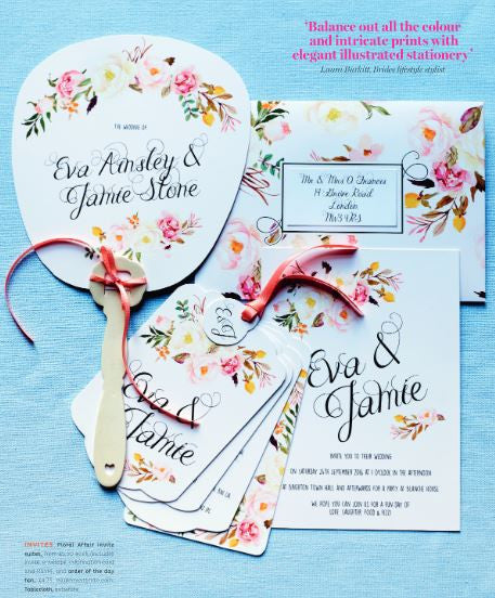 Floral Affair Luxe Wedding Invitation suite in Yellow