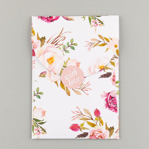 Free sample - Floral Affair Luxe Invitation in Pink