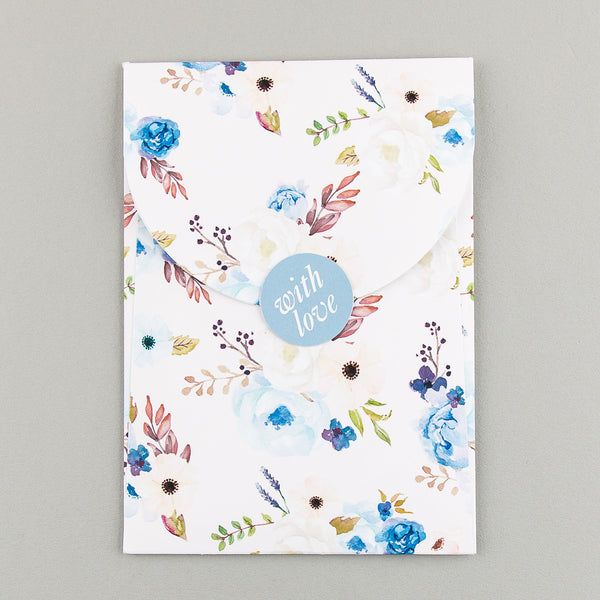 Sample - Floral Affair Luxe Invitation in Indigo