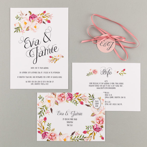 Sample - Floral Affair Invitation in Pink