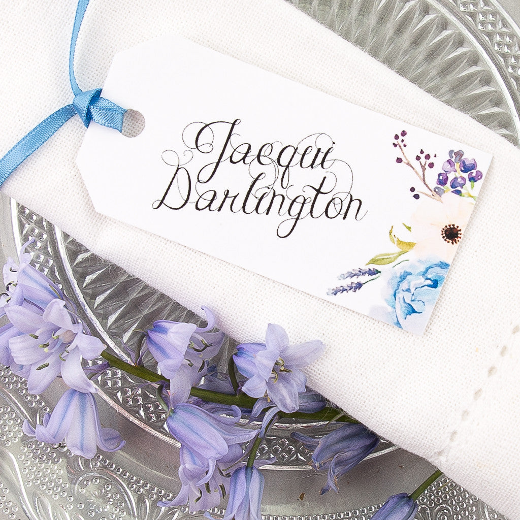 Floral Affair Luggage Tag Place Card, personalised | Eagle Eyed Bride