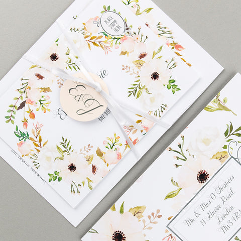 Floral Affair Invitation suite in Natural