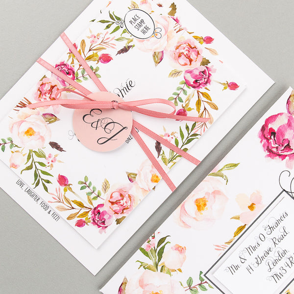 Floral Affair Invitation suite in Pink