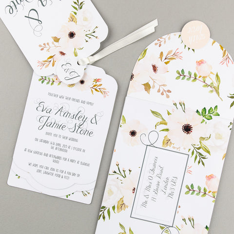 Sample - Floral Affair Luxe Invitation in Natural