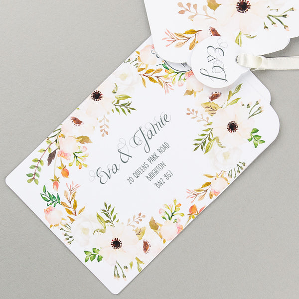 Free sample - Floral Affair Luxe Invitation in Natural