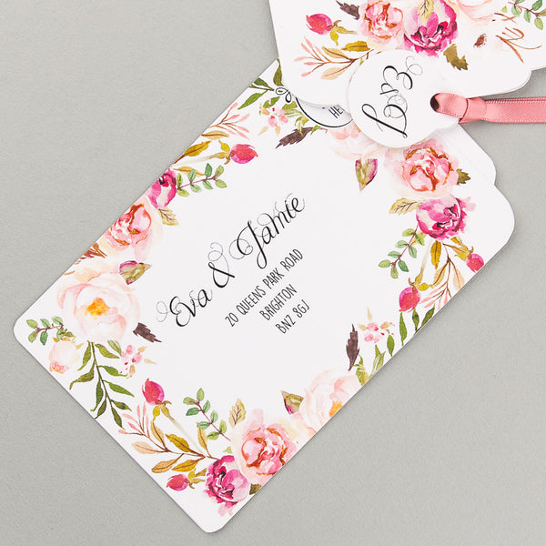Sample - Floral Affair Luxe Invitation in Pink