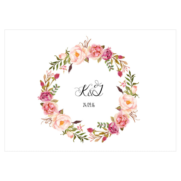 Floral Affair Classic Save the Date, 5 colour options