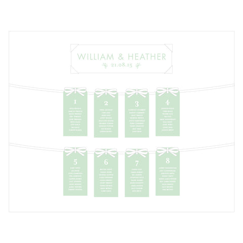 Heritage Sprig Tag Table Plan, 4 colour options