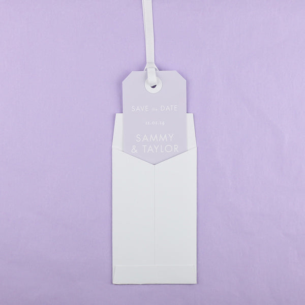 Heritage Sprig Luggage Tag Save the Date, 5 colour options