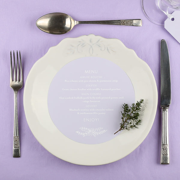 Heritage Sprig Round Plate Menu, 4 colour options