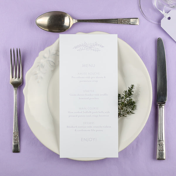 Heritage Sprig Classic Menu, 4 colour options