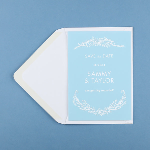 Heritage Sprig Classic Save the Date, 4 colour options