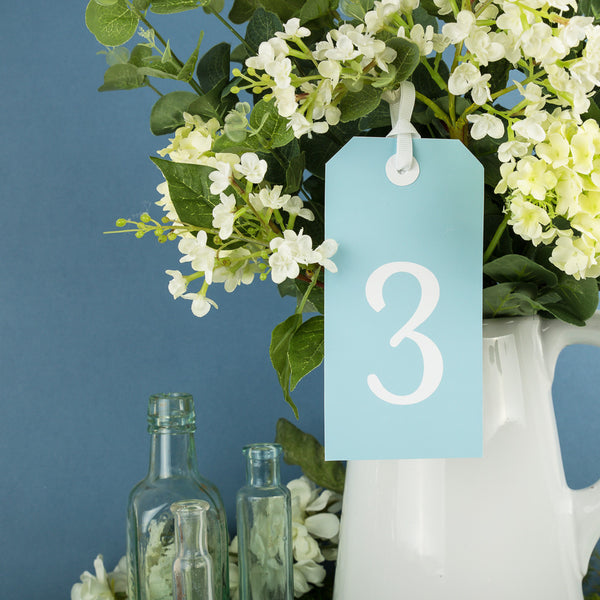 Pack of Tag Table Numbers, 4 colour options