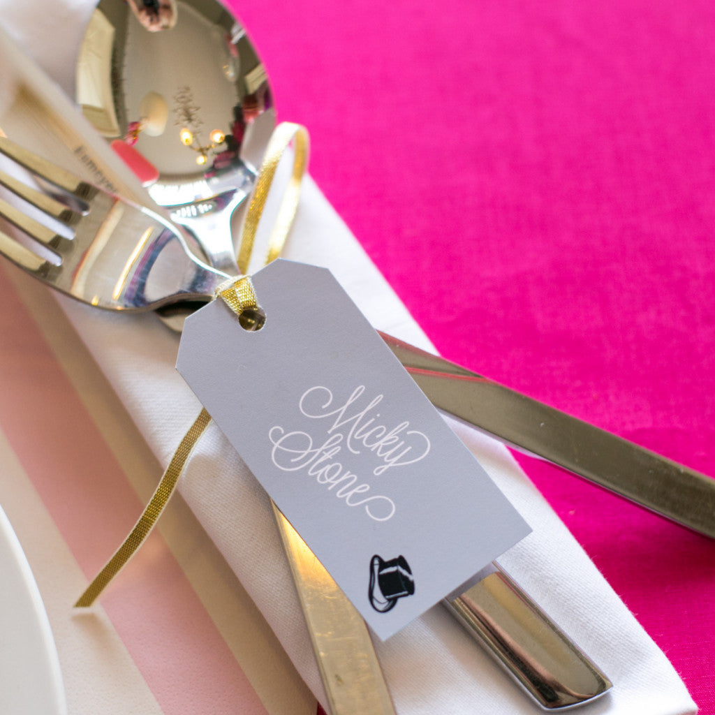Holly Golightly Motif Luggage Tag Place Card, personalised   Eagle ...