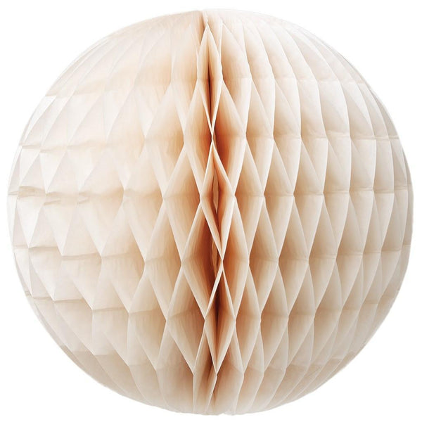 Tissue Honeycomb Ball Set Ivory Pack of 6