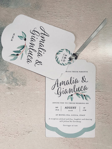 Sample - Olive Luxe Invitation Suite