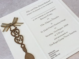 Sample -Love Spoon Invitation