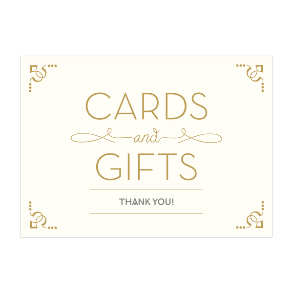 Love Lace Sign - 'Cards and gifts, thank you!'