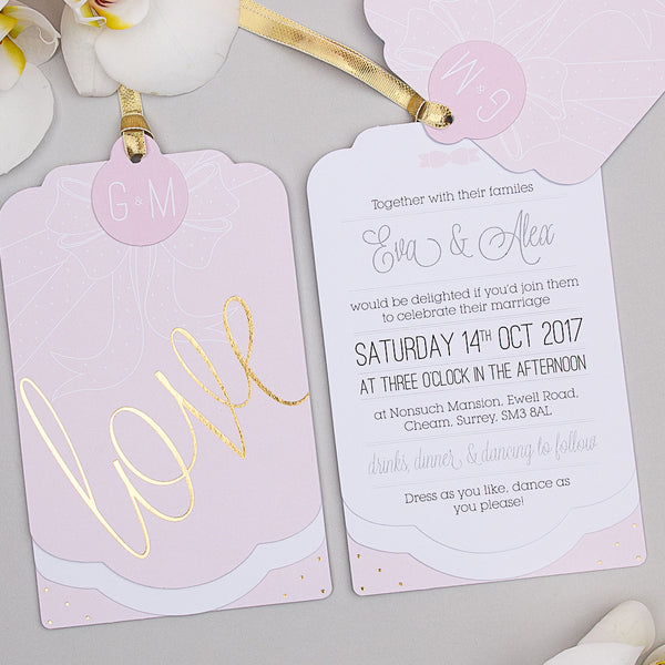 Holly Golightly Luxe Invitation suite in Pink