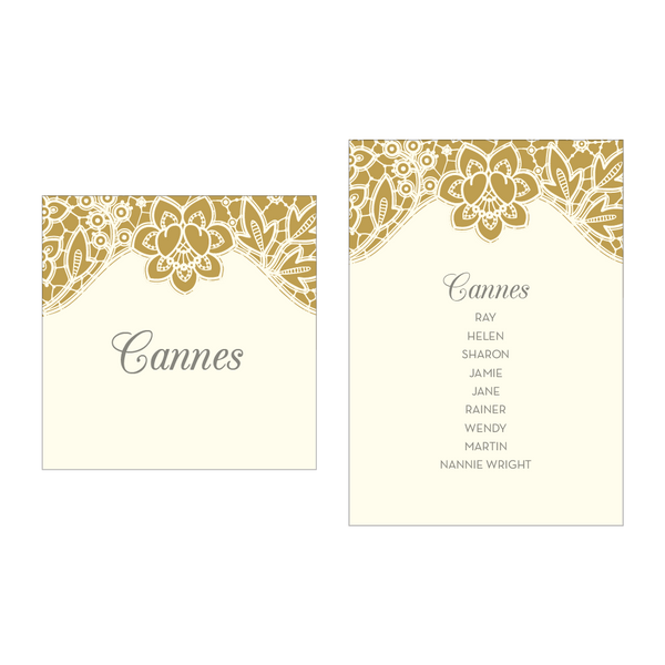 Modern Metallics Table Plan Cards & Table Names/Numbers