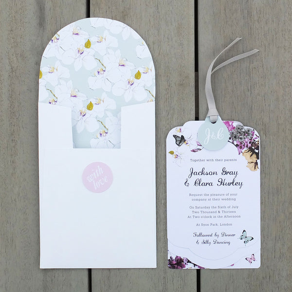 Sample - Midsummer Luxe Invitation in White