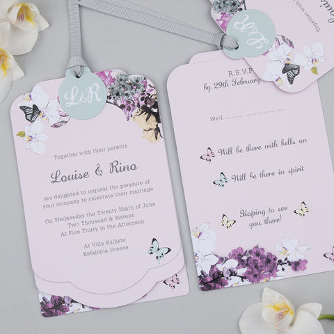 Midsummer Luxe Invitation suite in Blush