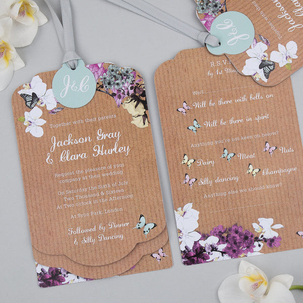 Midsummer Luxe Invitation suite in Brown Kraft