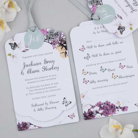 Midsummer Luxe Invitation in White
