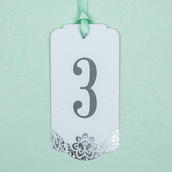 Pack of Modern Metallics Tag Table Numbers