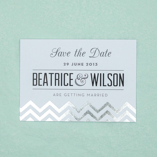 Modern Metallics Classic Save the Date, 4 colour options