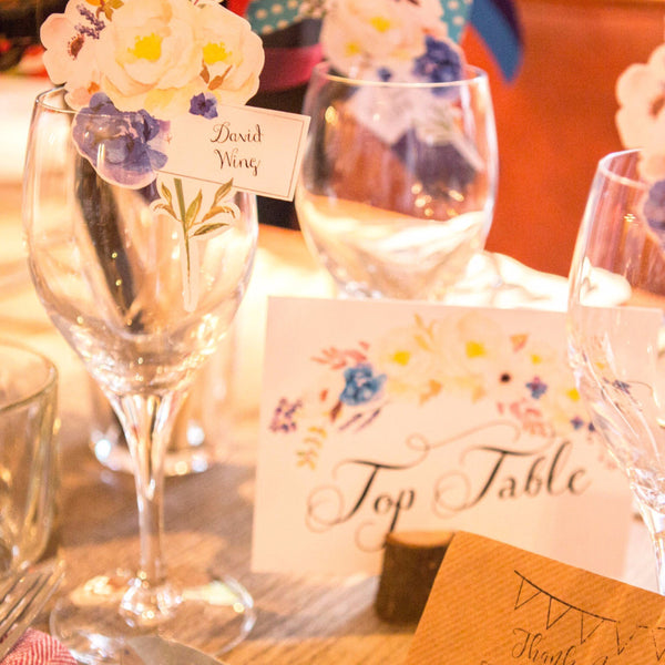 Floral Affair Bespoke Table Names or numbers