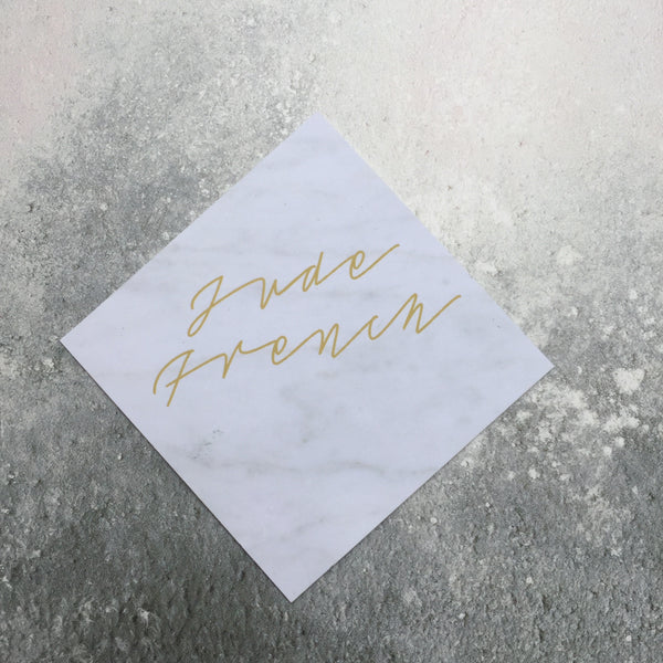 Square Marble Place Cards, personalised