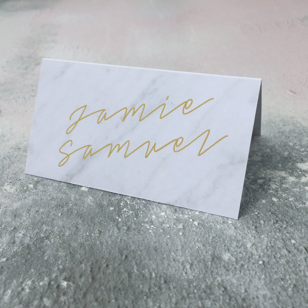 Marble Classic Place Cards, personalised