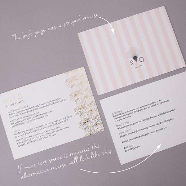 Portofino Letterpress Invitation Suite, Gold foil on Grey