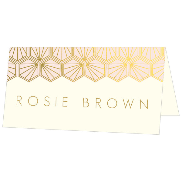 Portofino Foil Classic Place Cards, personalised