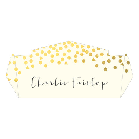 Scatter Classic Place Card, personalised