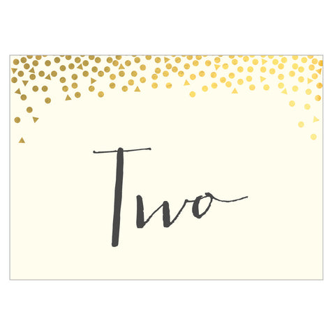 Pack of Scatter Classic Table Numbers, 3 colour options