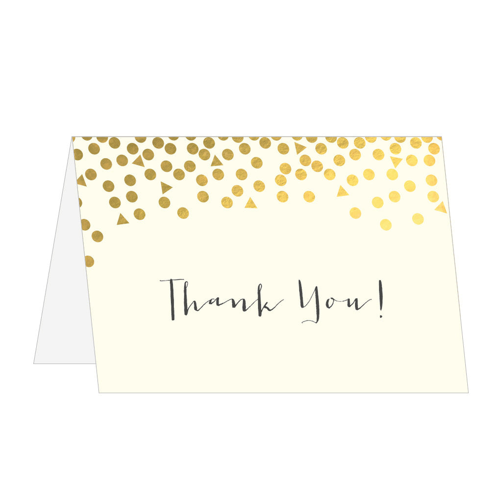 Scatter Classic Foiled Thank You Cards Pack Of 10 Eagle Eyed Bride
