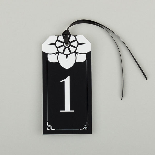Love Lace Pack of Tag Table Numbers, 6 colour options