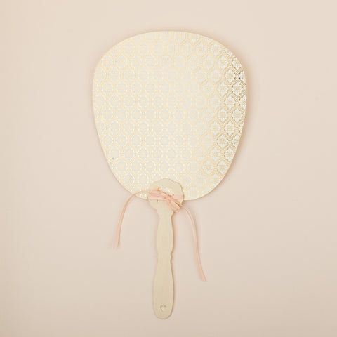 Love Lace Metallics Order of the Day Fan, in Gold, Rose Gold & Silver