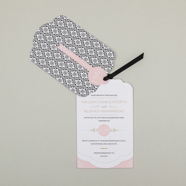 Sample - Love Lace Luxe Invitation in Black