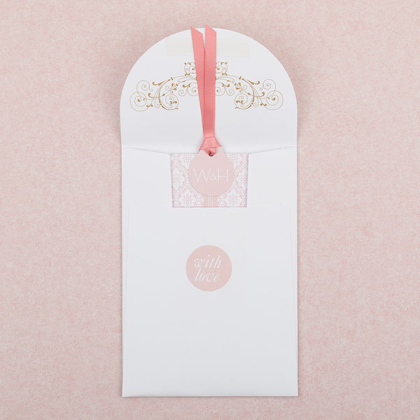 Love Lace Luxe Invitation suite in Salmon Pink