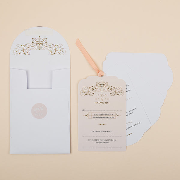 Sample - Love Lace Luxe Invitation Nude