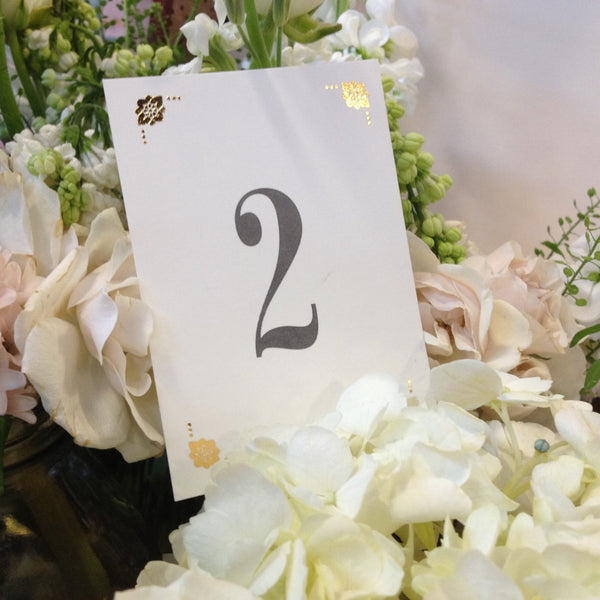 Pack of Love Lace Metallics Classic Table Numbers, Gold, Rose Gold & Silver