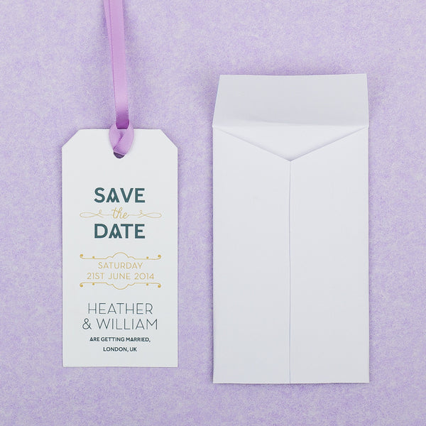 Love Lace Luggage Tag Save the Date, 4 colour options