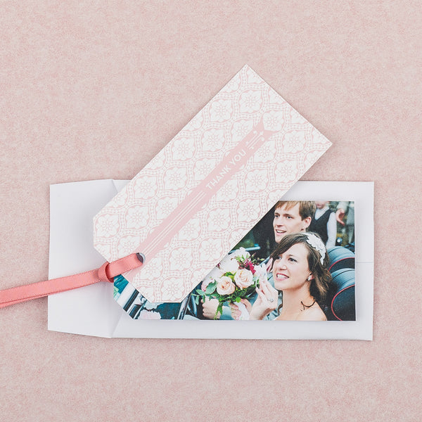 Love Lace Thank You Luggage Tag, 4 colour options