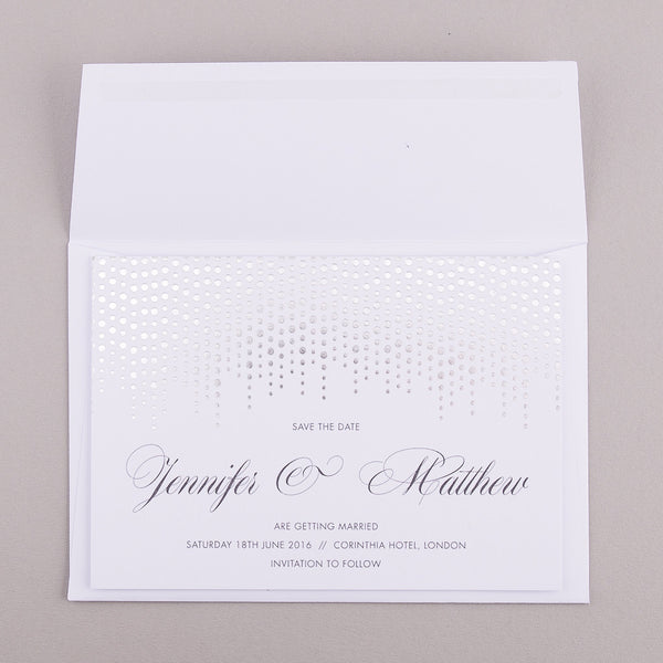 Corinthia Classic Save the Date in metallic foil