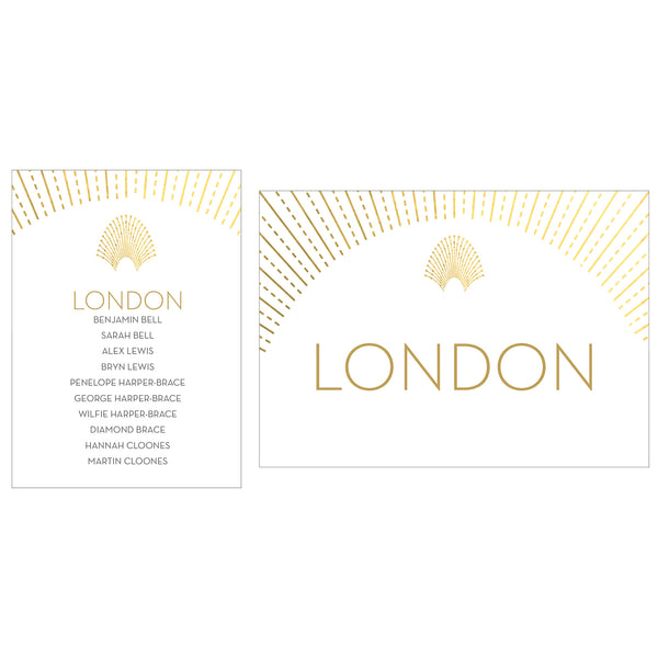 DECOdence Foil Table Plan Cards & Table Names/Numbers