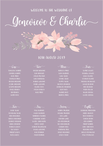 Ethereal Classic Table Plan